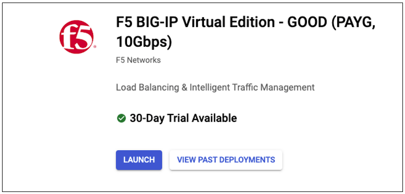 Google Cloud Platform: Single NIC BIG-IP VE