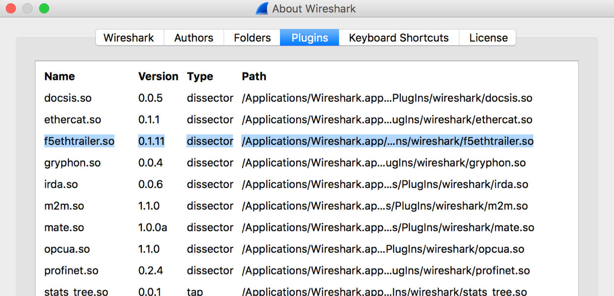 Install the F5 Wireshark Plugin