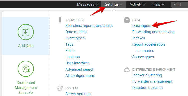 Lab 1: Configuring Splunk to use the F5 Splunk app
