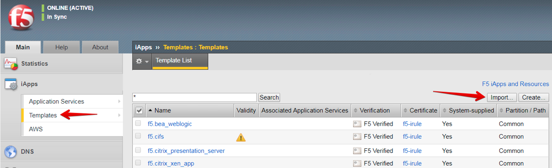 Task 2: Import and configure the F5 Analytics iApp template