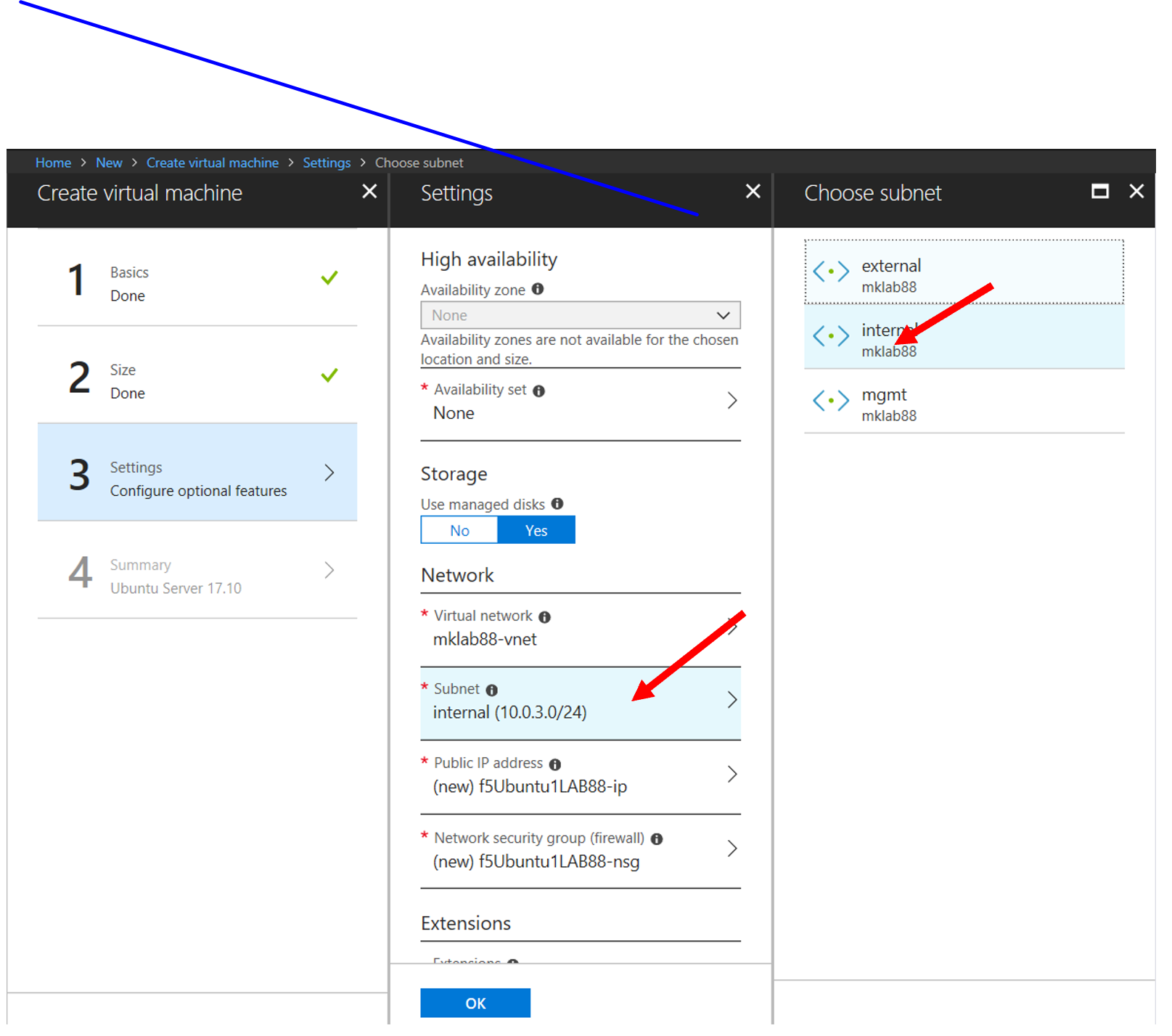 6 2 1  Deploy a BYOL BIG-IP in Azure with 3 NIC's